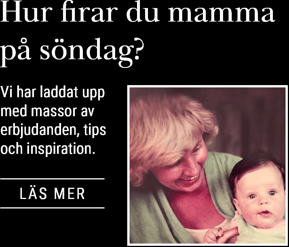 Hur firar du mamma på söndag? Läs mer